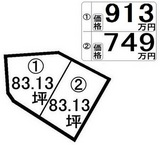 姫城二丁目泉源付 1)913万円  2)749万円